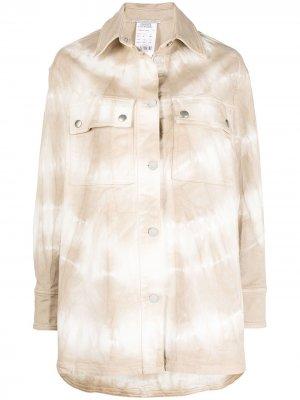 Джинсовая куртка оверсайз с принтом тай-дай Stella McCartney. Цвет: нейтральные цвета