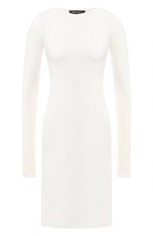 Вязаное кашемировое платье Loro Piana. Цвет: белый