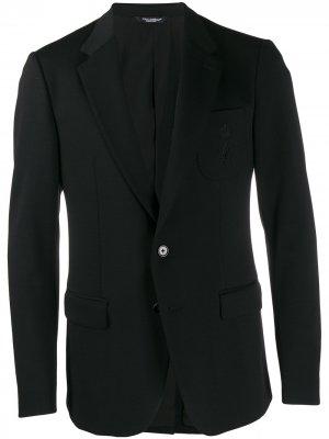 Блейзер кроя слим Dolce & Gabbana. Цвет: черный