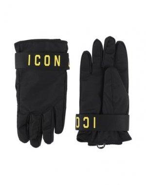 Перчатки DSQUARED2. Цвет: черный