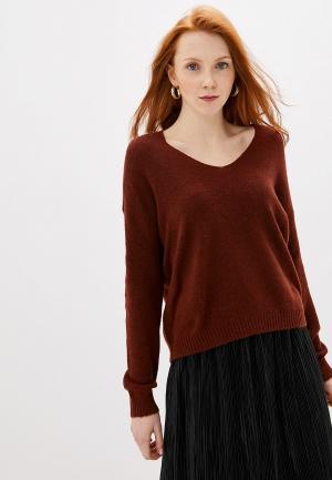 Пуловер Jacqueline de Yong. Цвет: коричневый