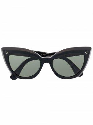 Солнцезащитные очки Laiya в оправе кошачий глаз Oliver Peoples. Цвет: черный