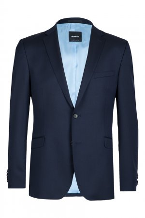 Синий шерстяной пиджак Strellson. Цвет: синий