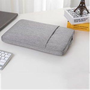 Сумка для ноутбука на молнии SHEIN. Цвет: светло-серый