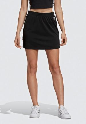 Юбка adidas Originals SC SKIRT. Цвет: черный