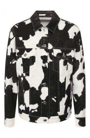 Джинсовая куртка Burberry. Цвет: черно-белый