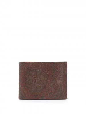 Бумажник с узором пейсли ETRO. Цвет: красный
