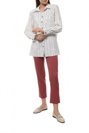Блузка CHALOU. Цвет: белый, черный