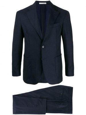 Костюм-двойка с однобортным пиджаком 0909. Цвет: синий