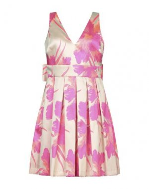 Короткое платье ALESSANDRO LEGORA. Цвет: бежевый