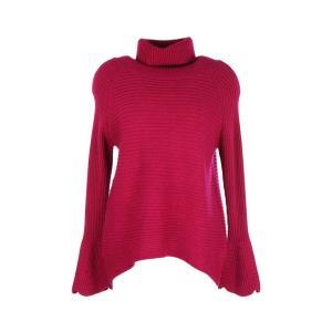 Пуловер-водолазка из тонкого трикотажа DERHY. Цвет: фуксия