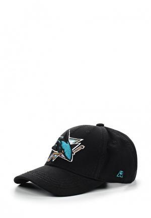 Бейсболка Atributika & Club™ NHL San Jose Sharks. Цвет: черный