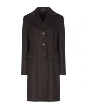 Пальто MANUELA CONTI. Цвет: темно-коричневый