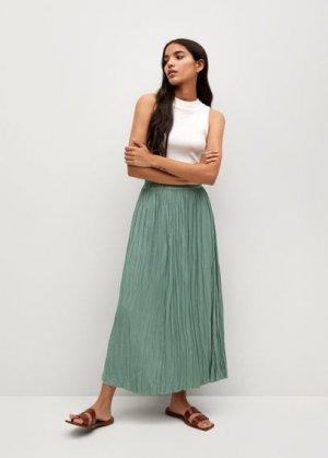 Плиссированная миди-юбка - Palmer Mango. Цвет: морская волна