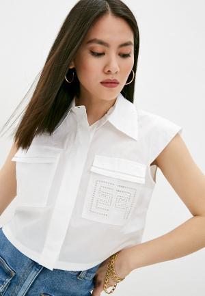Рубашка Elisabetta Franchi. Цвет: белый