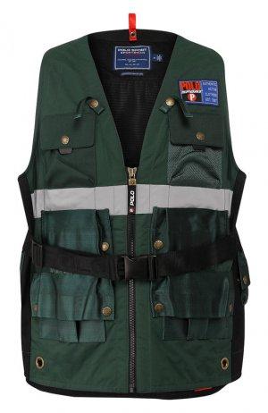 Жилет с поясной сумкой Outdoors Polo Ralph Lauren. Цвет: зелёный
