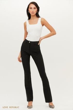 Черные брюки клеш в лаконичном дизайне LOVE REPUBLIC