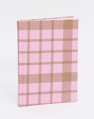 Розовый блокнот в клетку формата A5 Typo