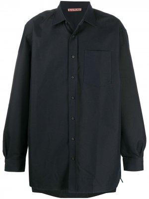 Твиловая рубашка Acne Studios. Цвет: синий