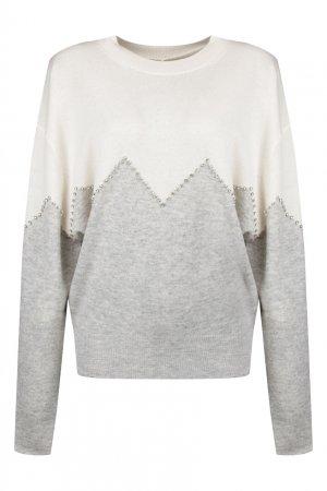 Двухцветный пуловер Max & Moi. Цвет: серый