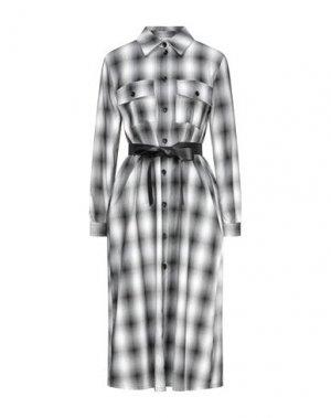 Платье длиной 3/4 DIXIE. Цвет: серый