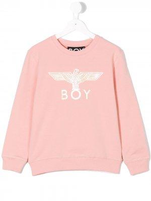 Толстовка Boy Eagle London Kids. Цвет: розовый