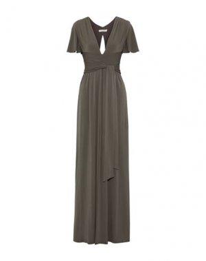 Длинное платье HALSTON. Цвет: зеленый-милитари