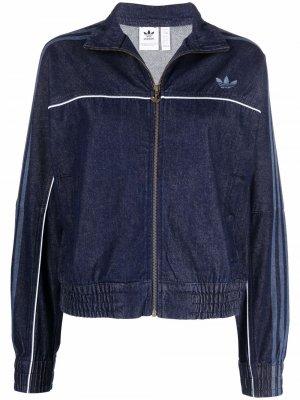 Куртка Primeblue Originals на молнии adidas. Цвет: синий