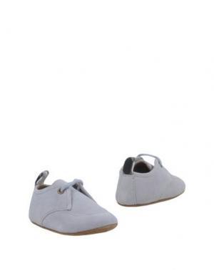 Обувь для новорожденных BURBERRY. Цвет: светло-серый