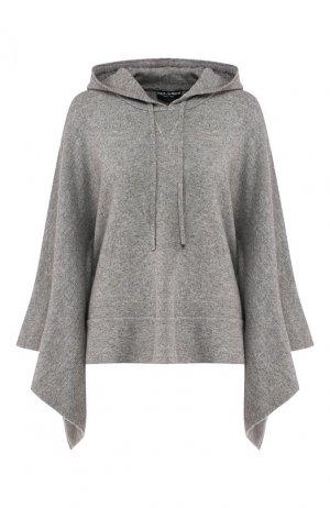 Кашемировый пуловер с капюшоном Dolce & Gabbana. Цвет: светло-серый