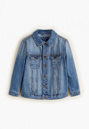 Куртка джинсовая Mango Kids. Цвет: синий