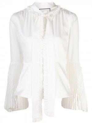 Блузка Sorrenta с бантом Alexis. Цвет: белый