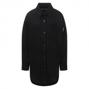 Джинсовая рубашка Alexander Wang. Цвет: чёрный