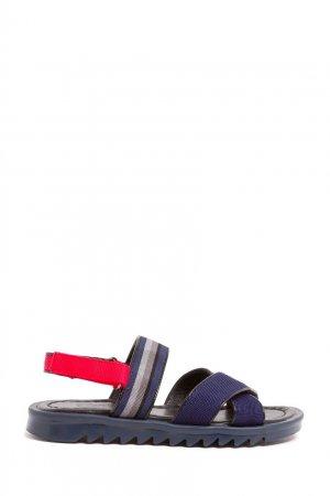 Синие сандалии Bonpoint. Цвет: синий