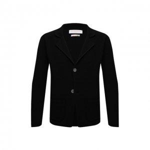 Хлопковый пиджак Daniele Fiesoli. Цвет: чёрный