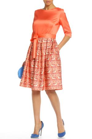 Платье Анна Чапман. Цвет: оранжевый