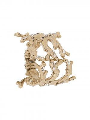 Декорированный браслет Blumarine. Цвет: золотистый