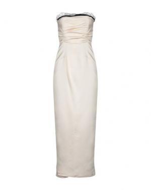 Длинное платье ANNA RACHELE BLACK LABEL. Цвет: слоновая кость