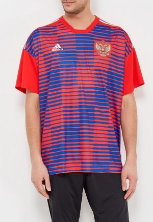Футболка спортивная adidas RFU H PRESHI. Цвет: красный