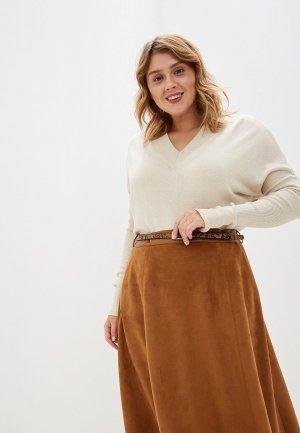 Пуловер MaryTes. Цвет: бежевый