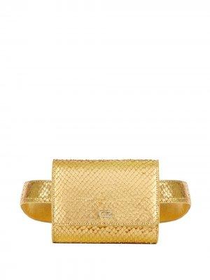 Поясная сумка Seraphine с эффектом металлик Giuseppe Zanotti. Цвет: золотистый
