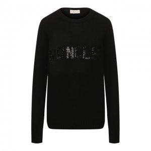 Пуловер из смеси шерсти и кашемира Moncler. Цвет: чёрный