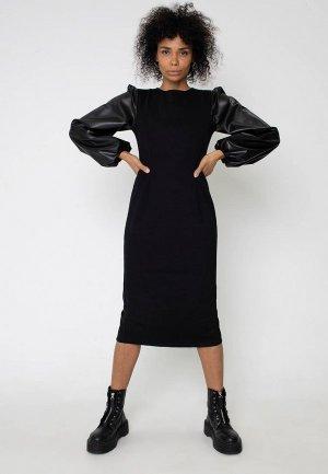 Платье Bornsoon. Цвет: черный