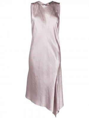Платье асимметричного кроя Ann Demeulemeester. Цвет: розовый