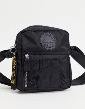 Черная дорожная сумка из нейлона AC812001-Черный цвет Dr Martens