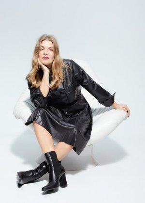 Кожаные ботильоны-носки - Laura Mango. Цвет: черный