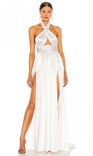 Вечернее платье eva Bronx and Banco. Цвет: белый