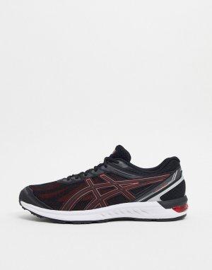 Черно-красные кроссовки Running gel sileo-Черный Asics