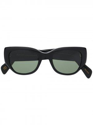 Солнцезащитные очки Arbita с затемненными линзами Moscot. Цвет: черный