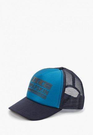 Бейсболка Jack Wolfskin BRAND MESH CAP. Цвет: синий